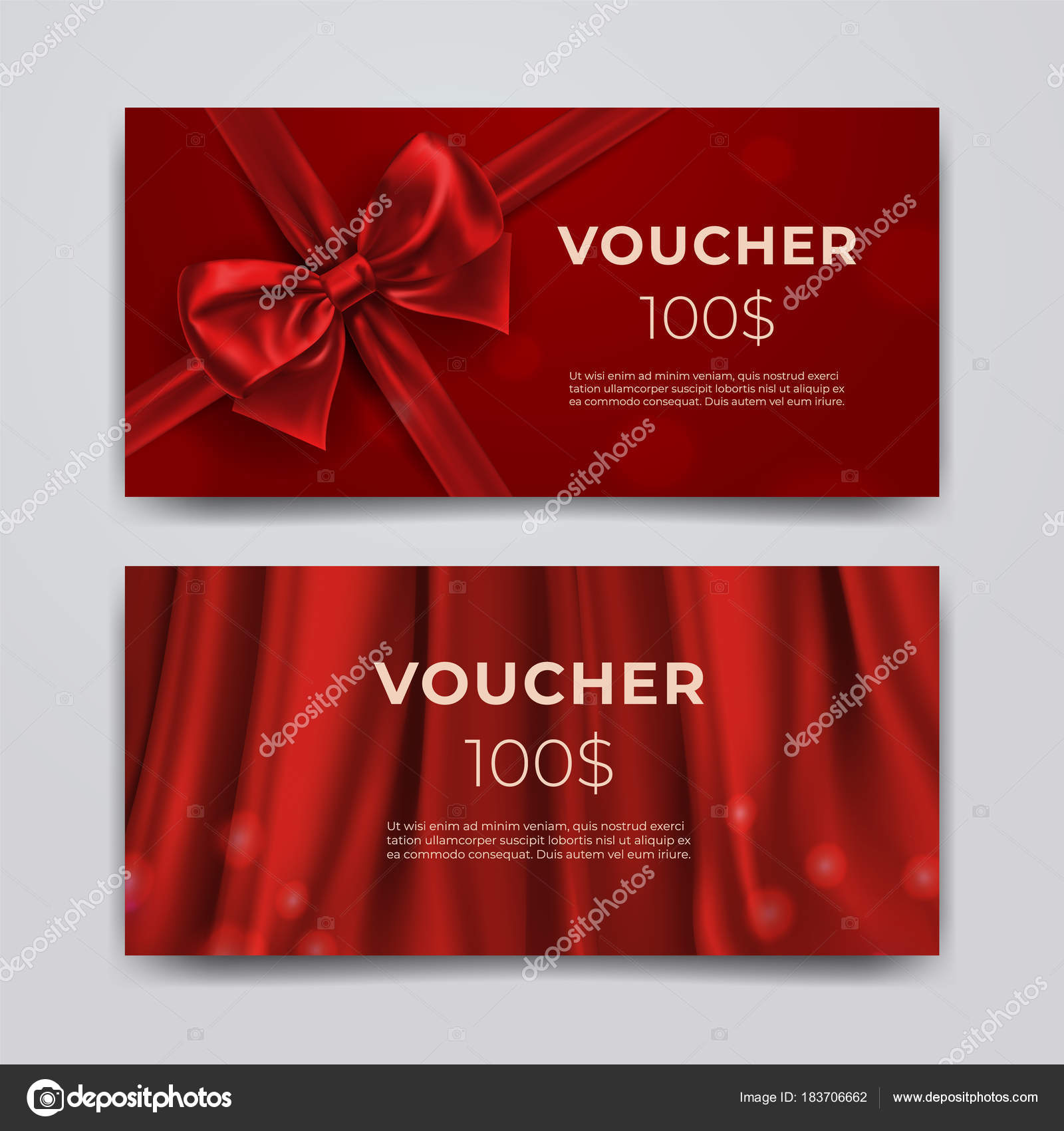 gift voucher design template set of premium promotional card with