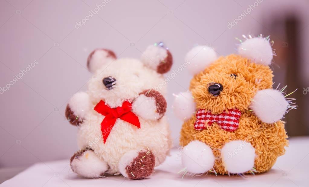 urso de pelúcia brinquedo na tabela — Fotografias de Stock ... 6ea93ce7fbec4