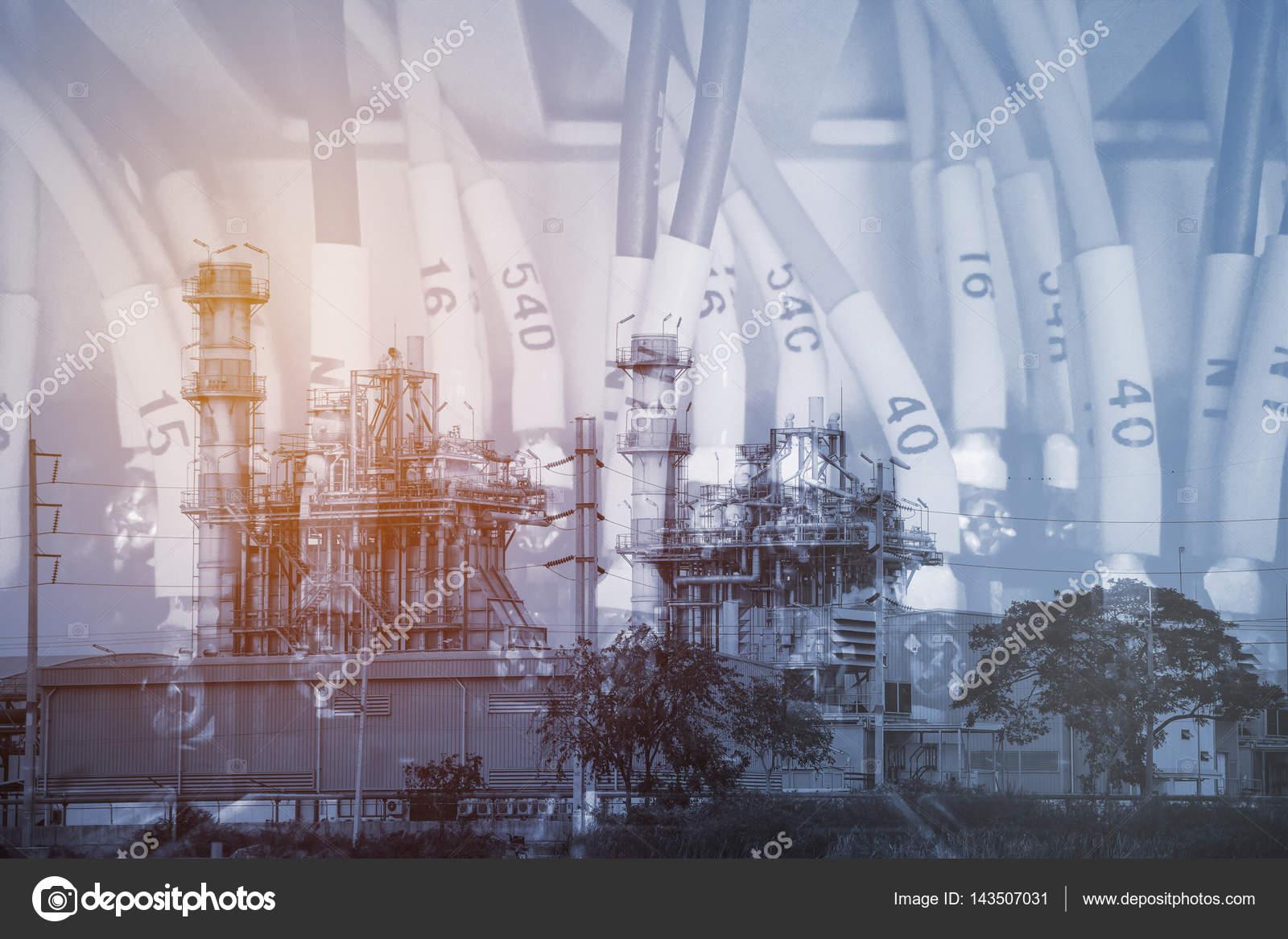 Mehrfache Belichtung Kraftwerk mit Verdrahtung Kontrolle Schränke ...