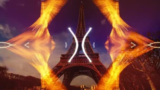 abstraktní Eiffelova věž sestřih