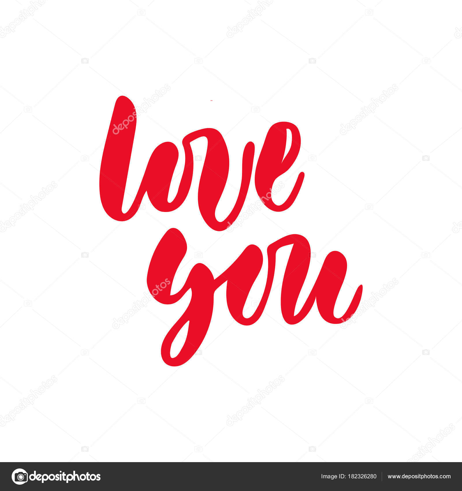 Vector isolated Happy Valentines Day illustration with phrase Love ...