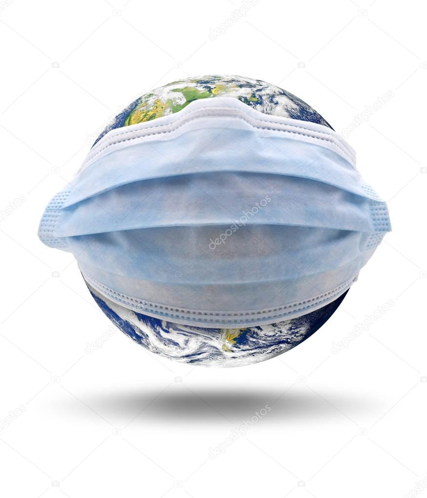 Planet Earth With Mask