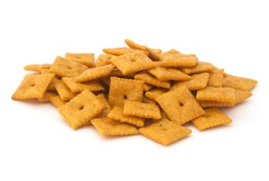 Isolated Cheese Crackers