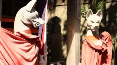 Guardian Fox at Anamoriinari shrine in Haneda close shot. Its a traditional shrine in Tokyo. camera : Canon EOS 7D