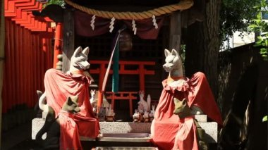 Guardian Fox at Anamoriinari shrine in Haneda middle shot. Its a traditional shrine in Tokyo. camera : Canon EOS 7D