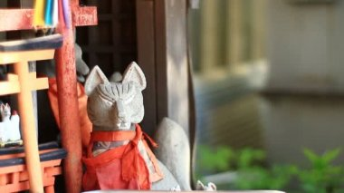 Guardian Fox at Anamoriinari shrine in Haneda close up. Its a traditional shrine in Tokyo. camera : Canon EOS 7D
