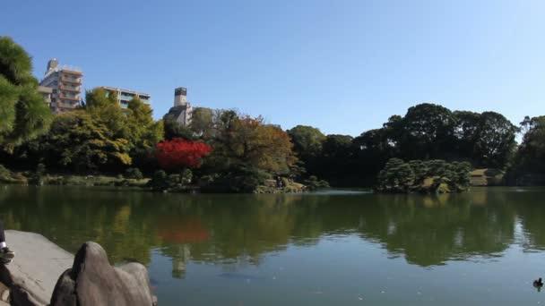 Japonská zahrada v Kiyosumi teien v Tokiu široký záběr hluboké zaměření. / Své tradiční místo v Japonsku. fotoaparát: Canon Eos 7d