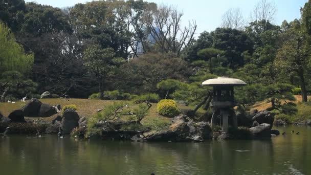 Japonské zahrady střední střílel na Kiyosumi Shirakawa. / Jeho tradiční park v Tokiu. fotoaparát: Canon Eos 7d