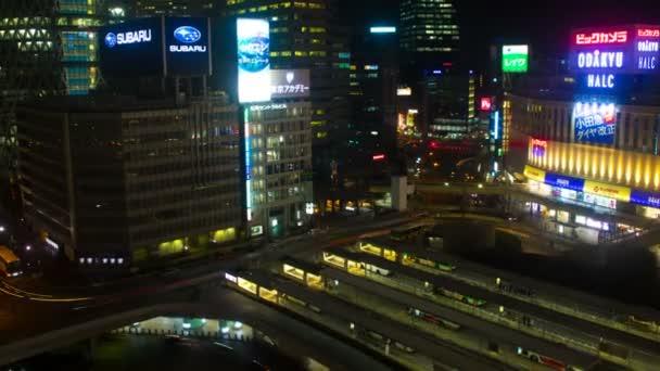 4k Auflösung nächtlicher Lapsus bei shinjuku / its a city location in Tokio. 4k  Zeitraffer. Kamera: canon eos 5d