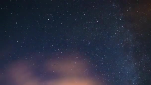 A timelapse of starry sky in Shizuoka at night