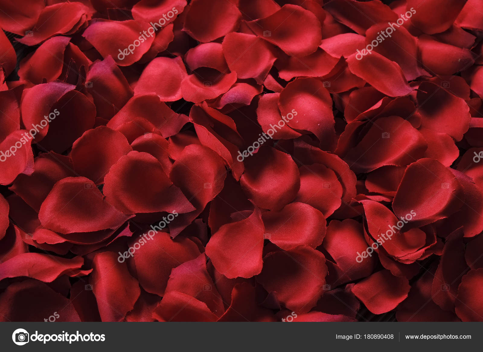 Beautiful Bright Red Rose Petals On Wooden Background Happy
