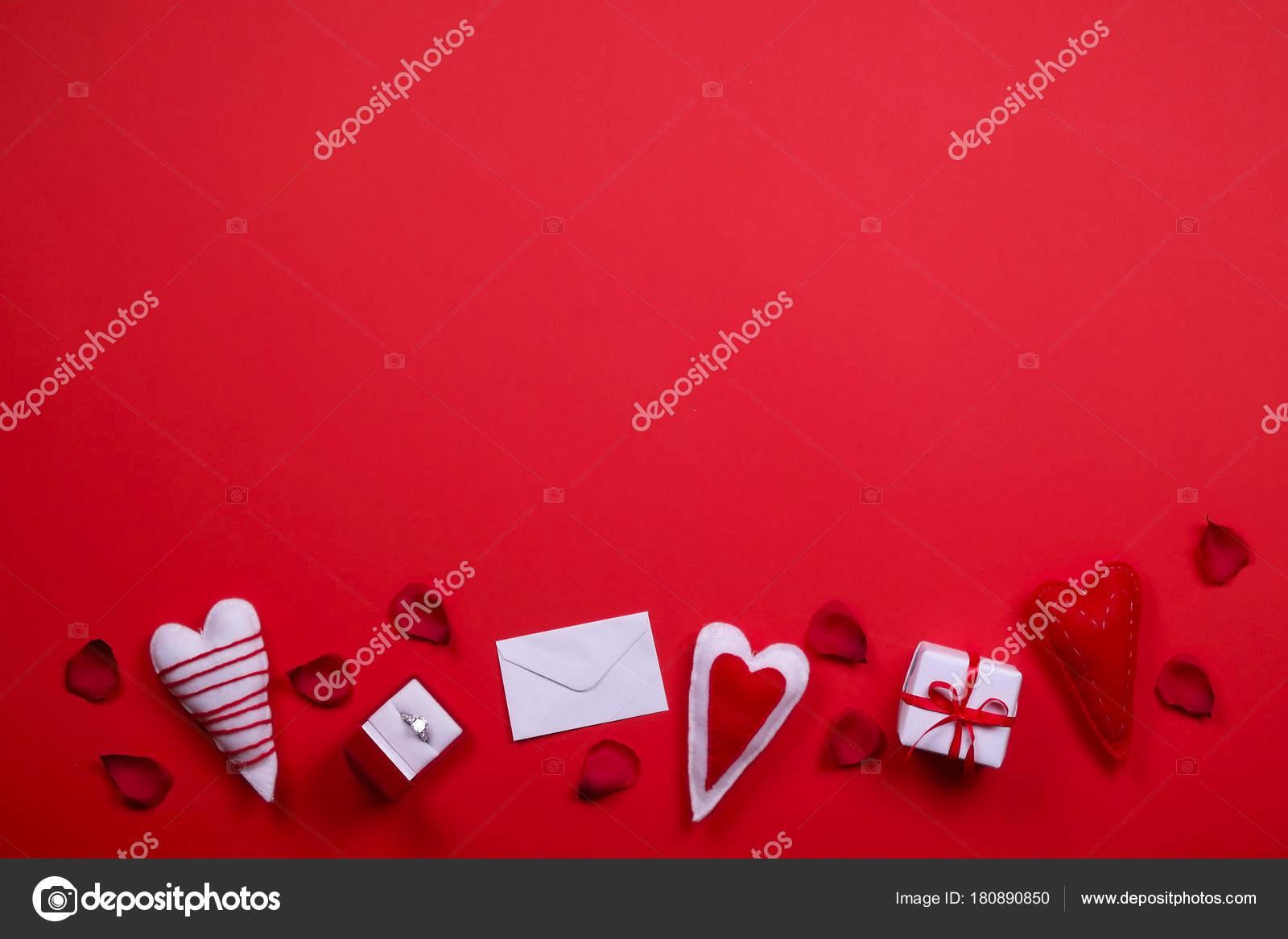Happy valentines day love symbols concept on bright red background happy valentines day love symbols concept on bright red background stock photo buycottarizona Gallery