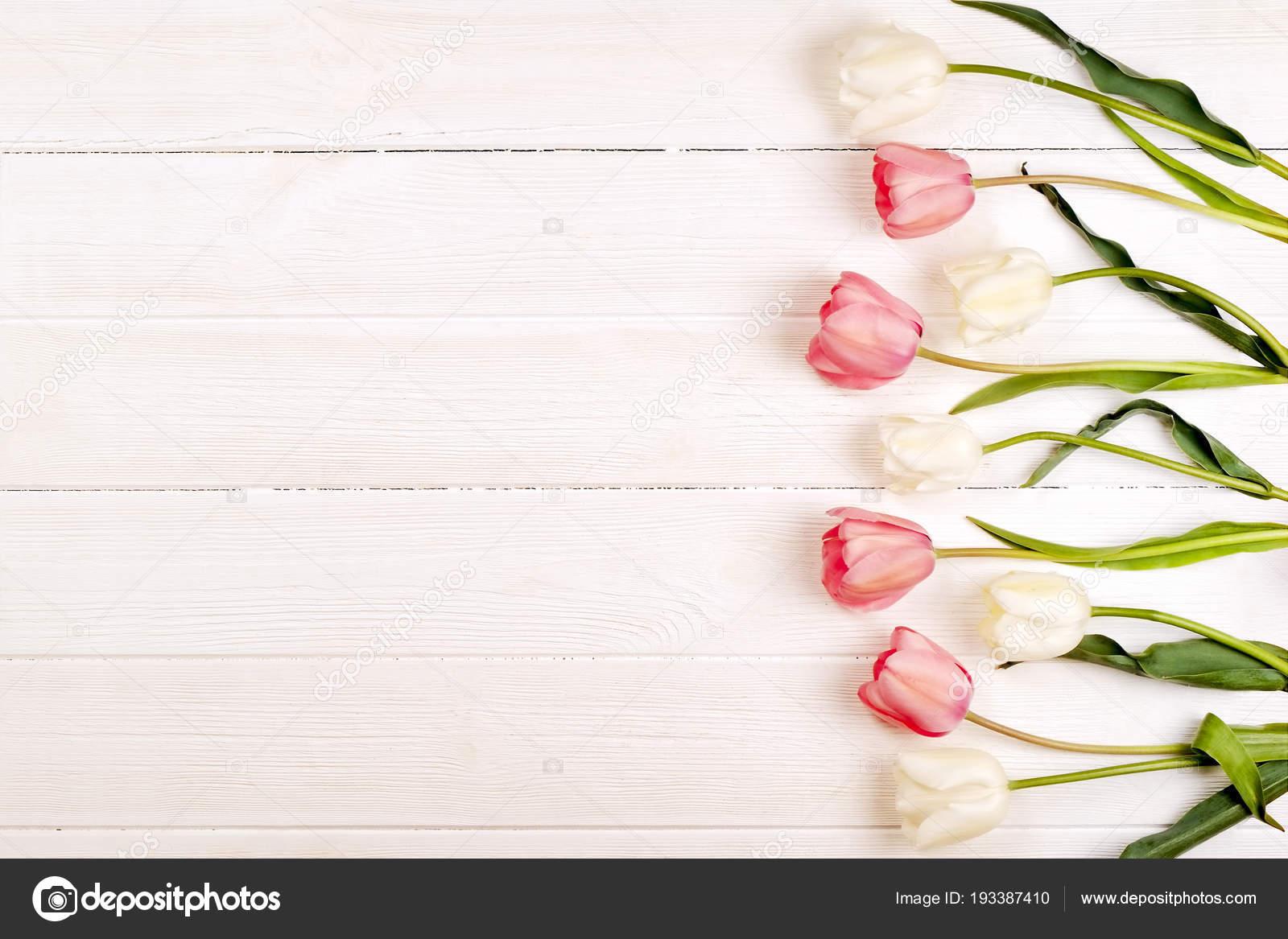 Zarte Minimalistisch Fruhling Blumen Auf Texturoberflache