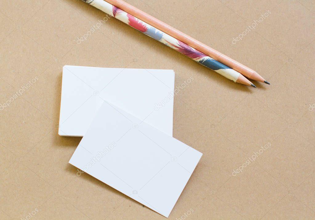 Karton Visitenkarten Und öko Papier Für Design Stockfoto