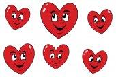 Cartoon hearts illustration