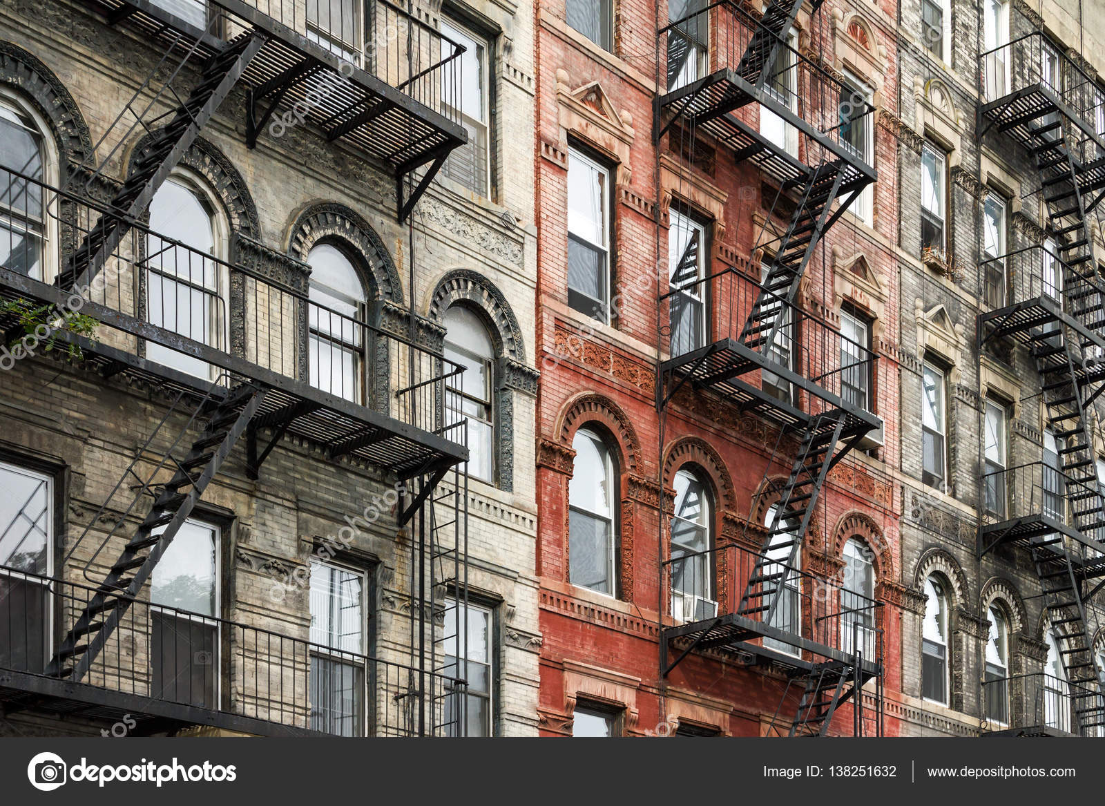 Old new york city style buildings in manhattan stock for Luxury extended stay hotels nyc