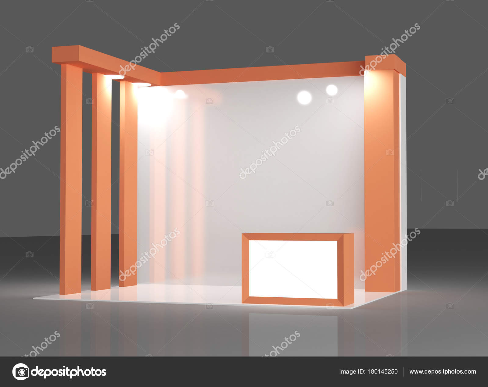 D Exhibition Stand Free Download : Red exhibition stand 3d rendering u2014 stock photo © klllane #180145250
