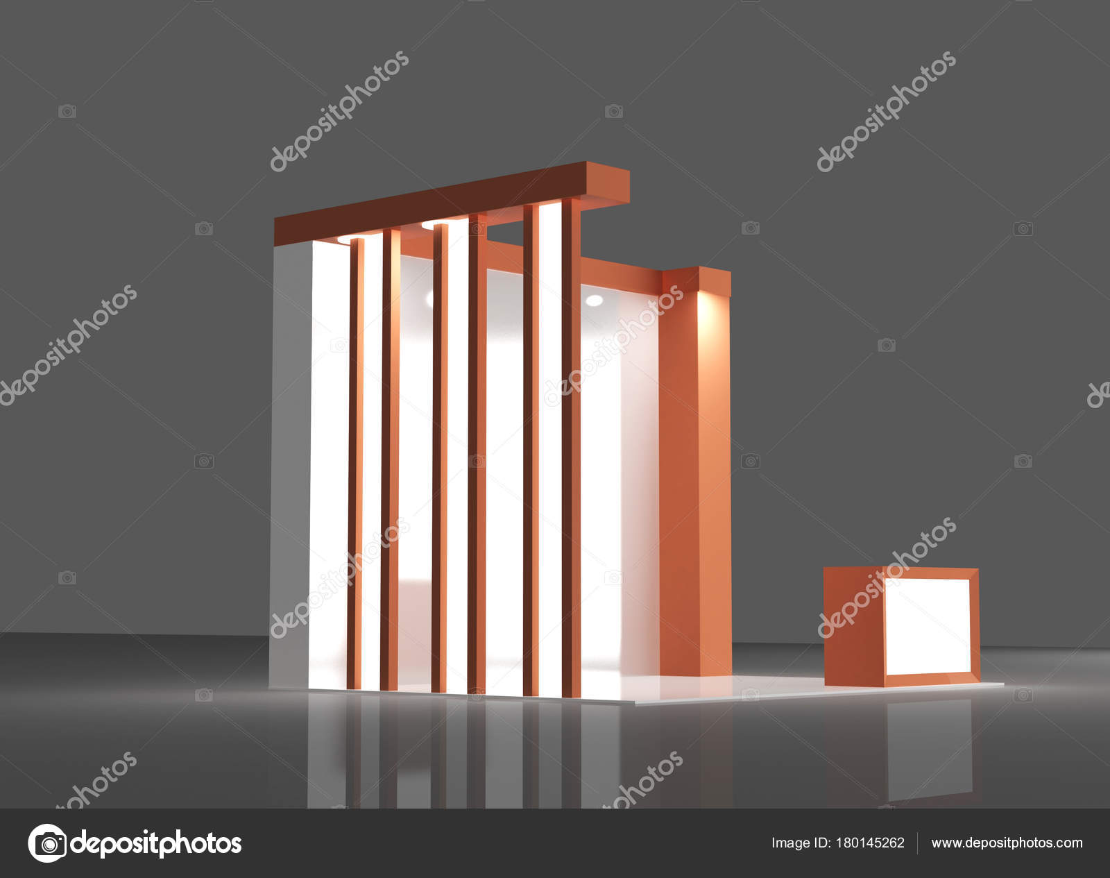 D Exhibition Stand Free Download : Red exhibition stand 3d rendering u2014 stock photo © klllane #180145262