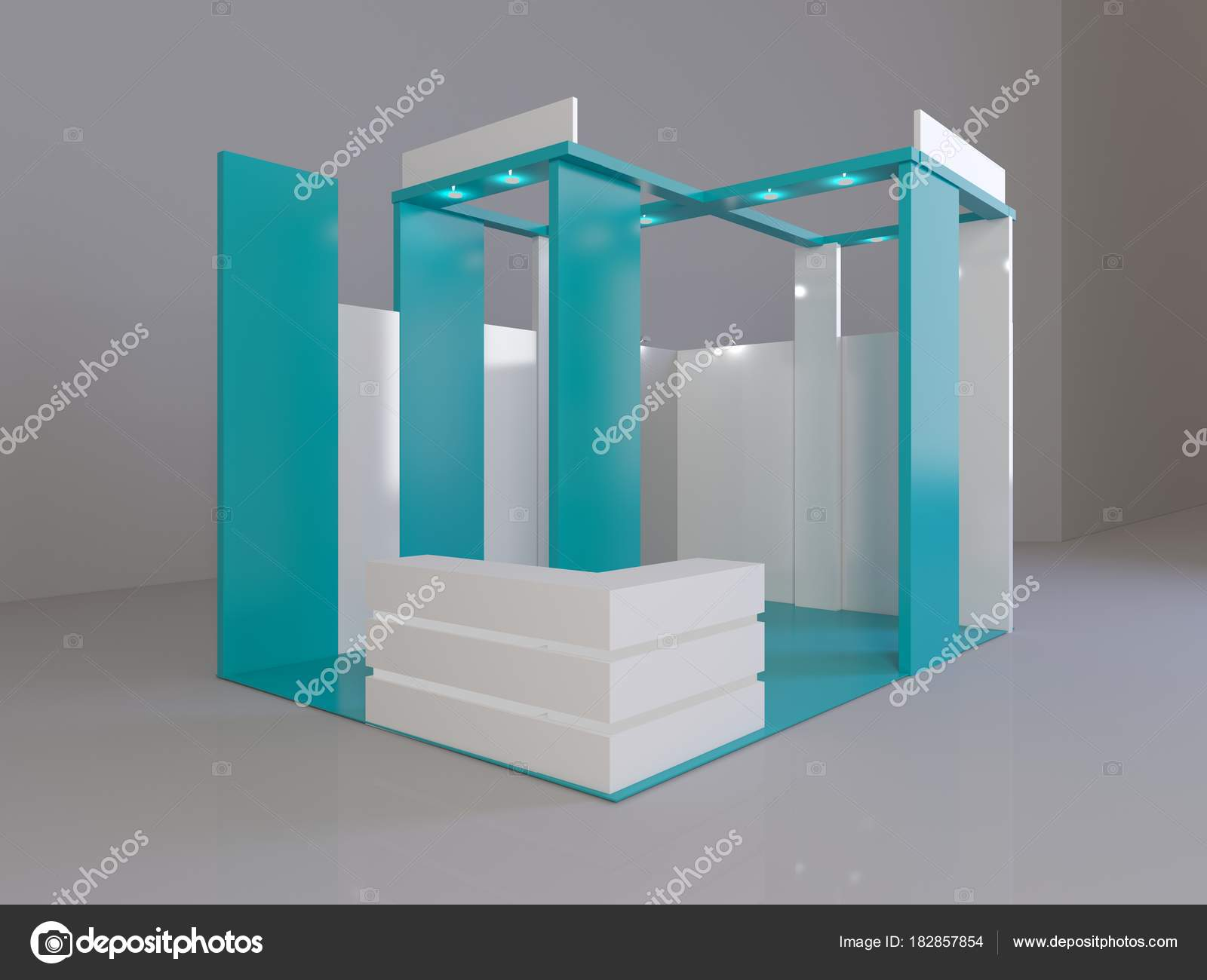 Creative Booth Exhibition : Red creative exhibition stand design. booth template. corporate