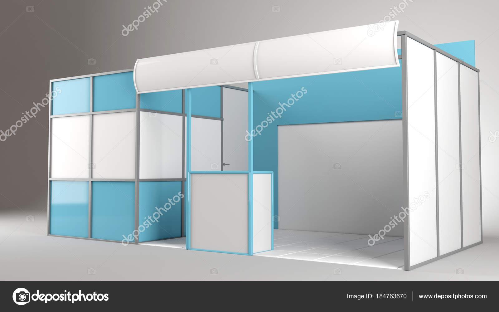 Creative Exhibition Stand Design : Red creative exhibition stand design booth template d render