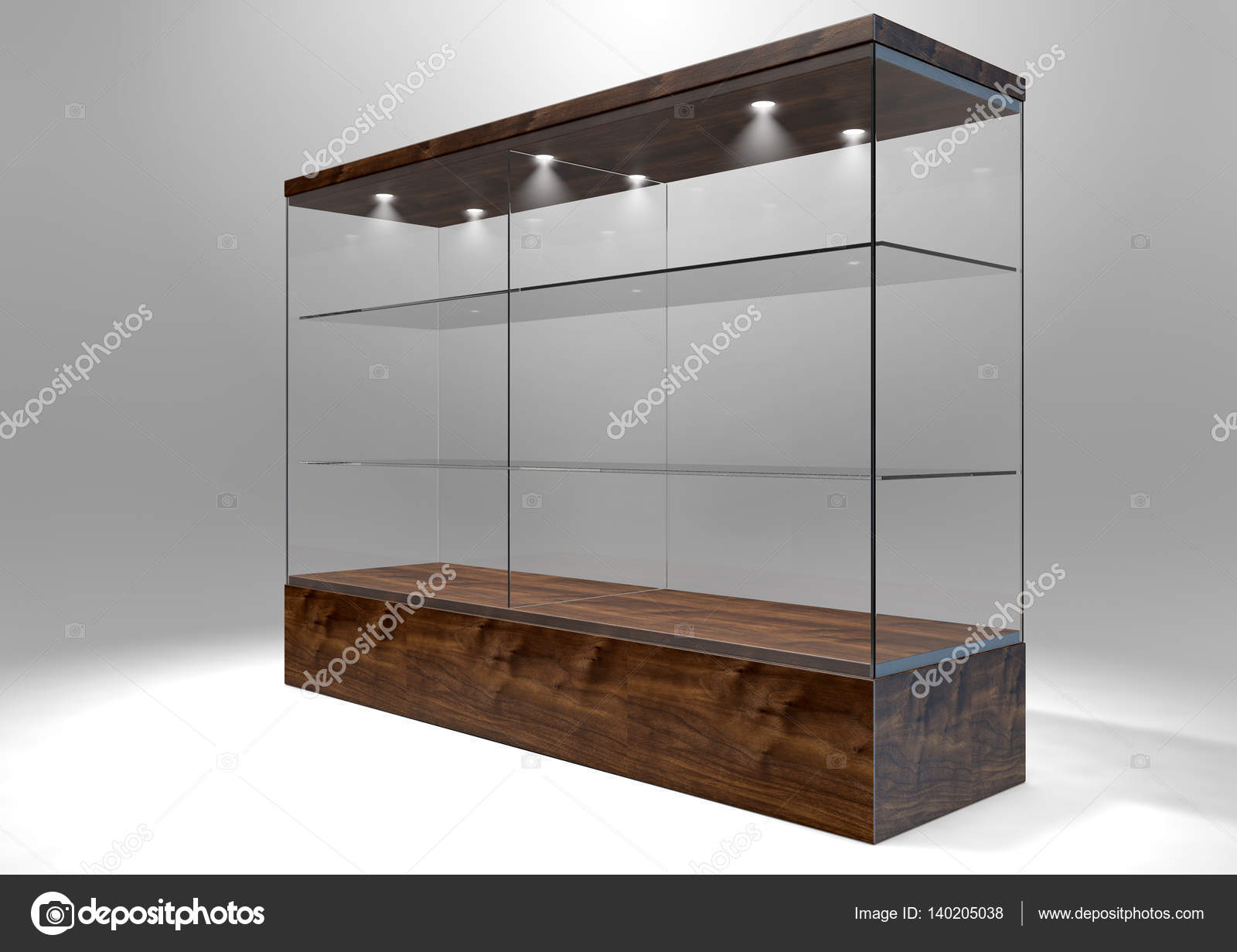 Vitrine Kast Glas : Glas vitrinekast u2014 stockfoto © albund #140205038