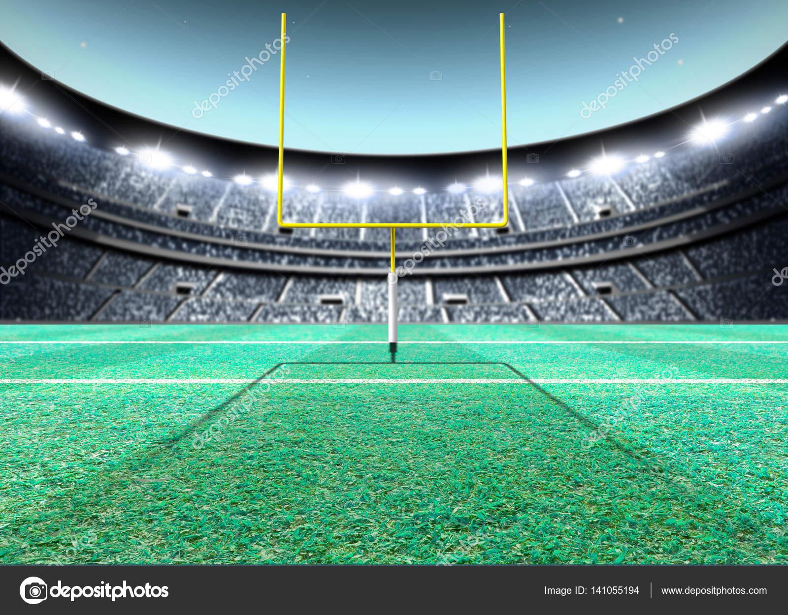 Nacht van de verlichte stadion — Stockfoto © albund #141055194
