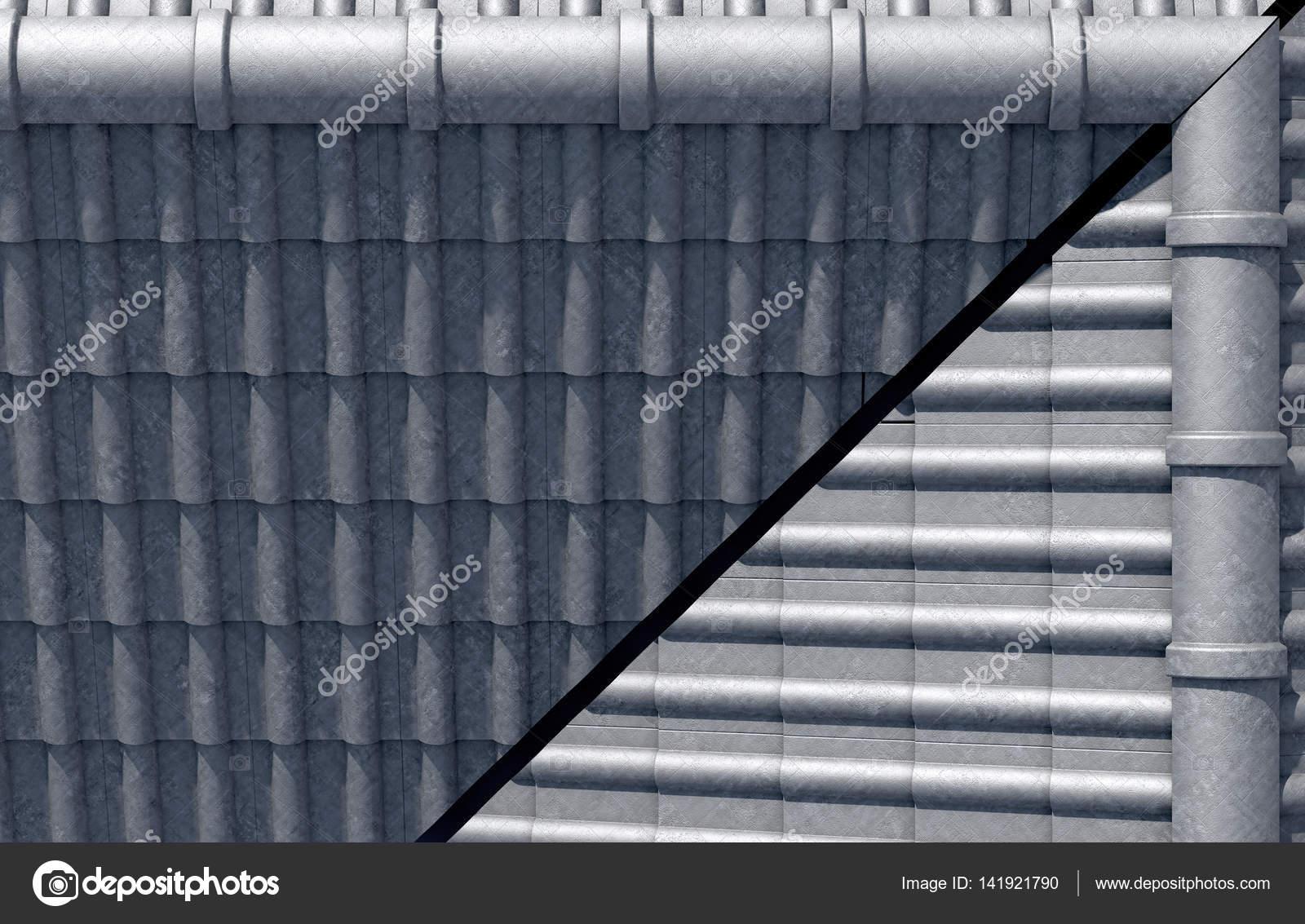 Design piastrelle sul tetto u foto stock albund
