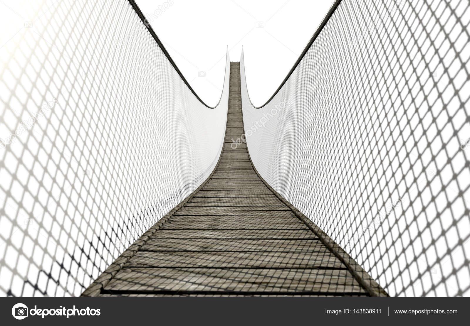 Rope Bridge On White — Stock Photo © albund #143838911