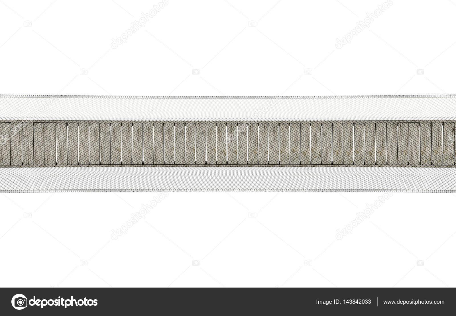 Ponte di corda su bianco foto stock albund 143842033 for Foto di ponti su case