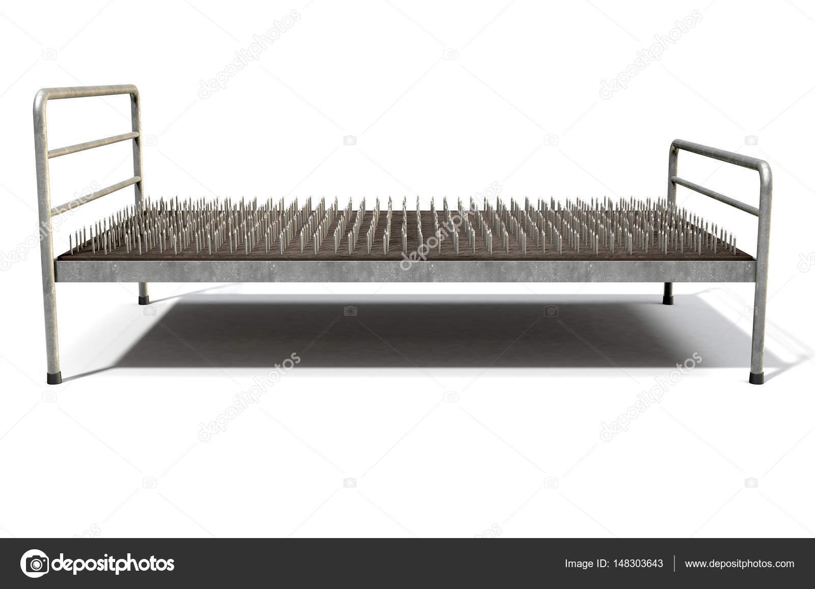 Letto di chiodi isolati foto stock albund 148303643 - Fachiro letto di chiodi ...