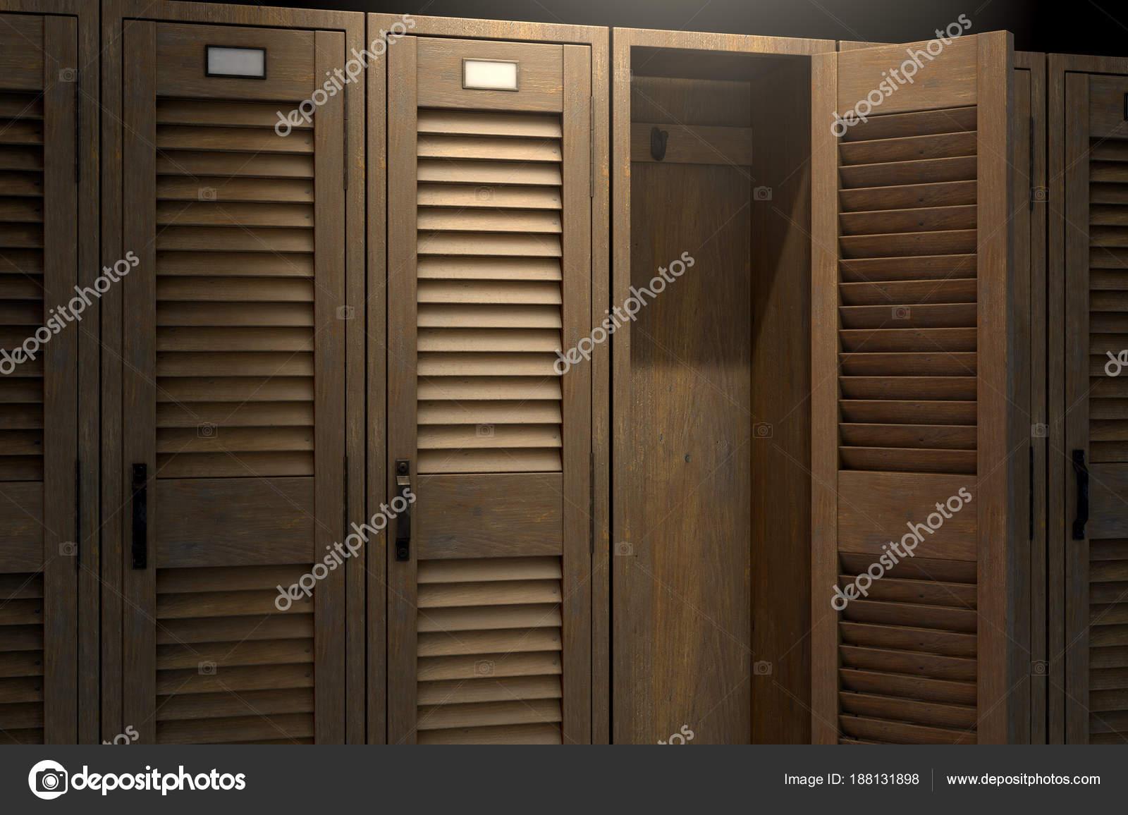 Vintage Schrank und offene Tür — Stockfoto © albund #188131898