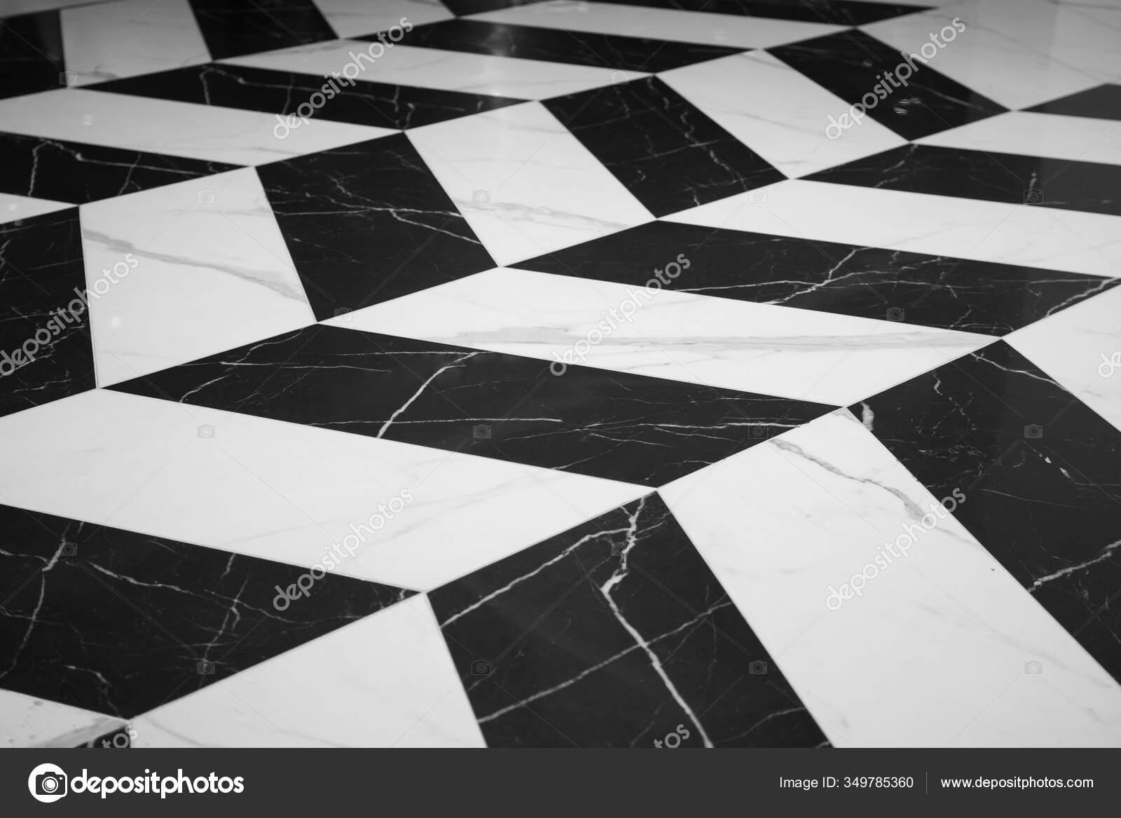 Black White Marble Texture Were Arranged Alternately Create Patterns Interior Stock Photo C Zasabe 349785360