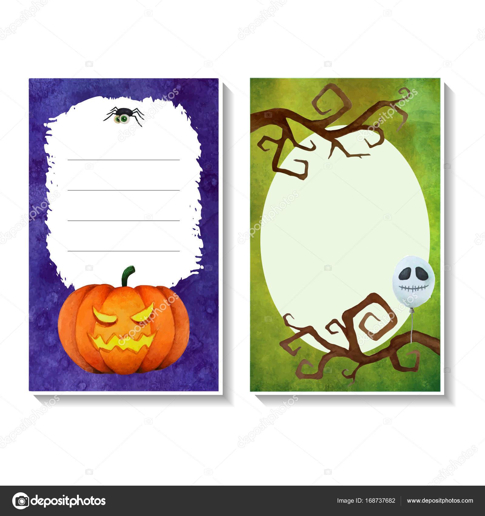 halloween card templates3 stock vector labibitorium 168737682