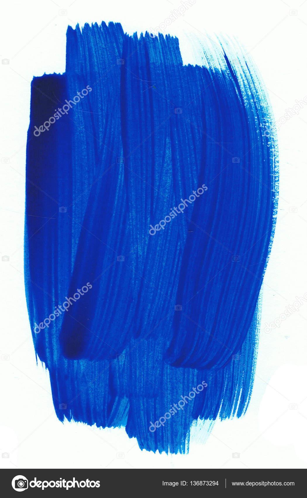 9d579599ae Niebieska farba dab na białym papierze. Artystyczny element– obraz stockowy