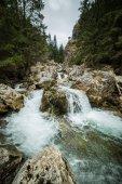 Un bellissimo paesaggio della cascata in montagne di Tatra in Slovacchia