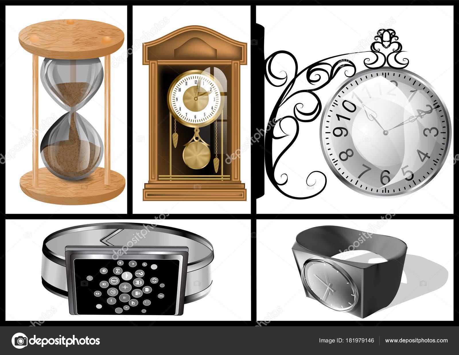 Diferentes Tipos De Relojes Archivo Imágenes Vectoriales Arkela