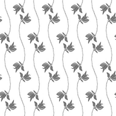 Seamless pattern with cherry blossoms.
