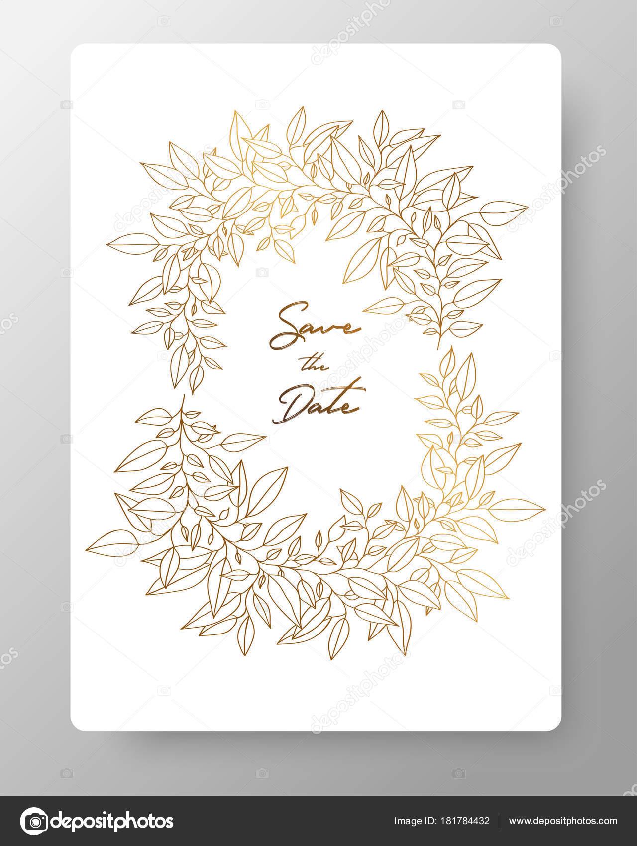 Guardar la plantilla de invitación de boda de tarjeta de fecha ...