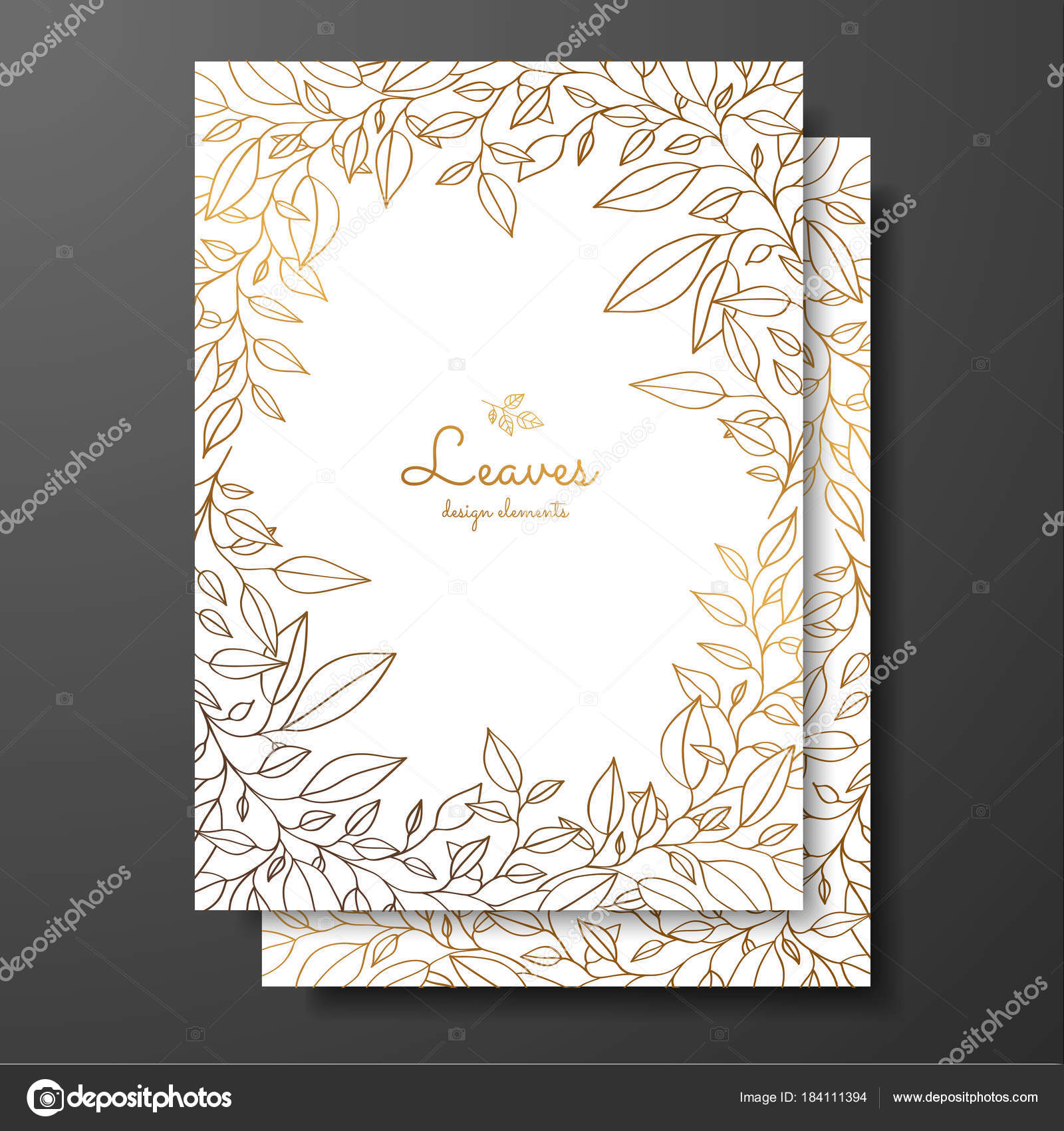 Save the date card wedding invitation template. Design template with ...