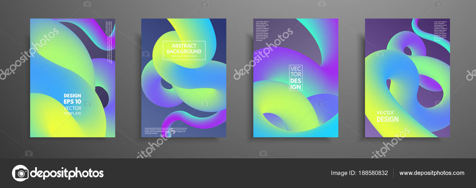 Colorful templates set with abstract elements. Abstract blending ...