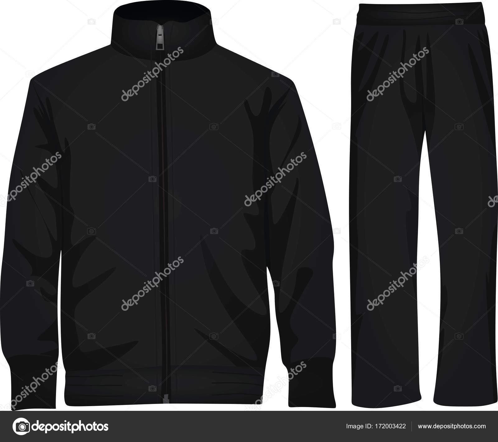 a030abd972be Black tracksuit on white background — Stock Vector © marijamara ...