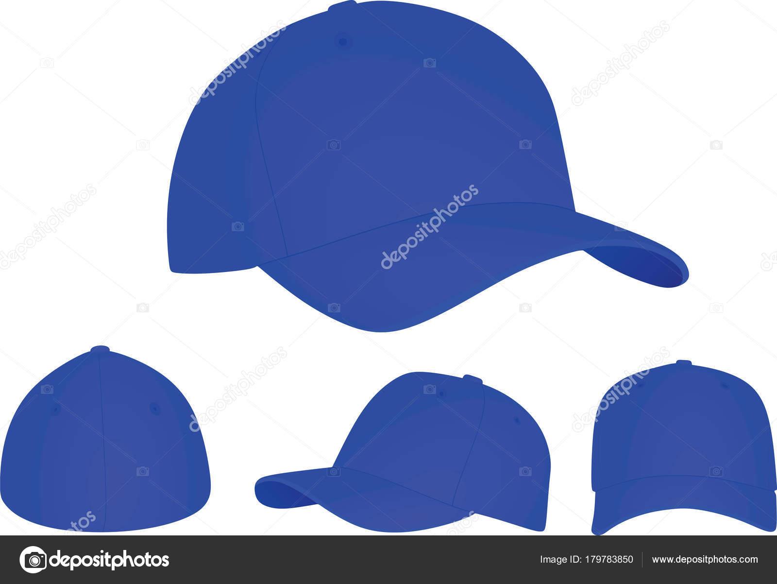 Gorra Béisbol Azul Ilustración Vector — Archivo Imágenes Vectoriales ... e3b3afd8b0c