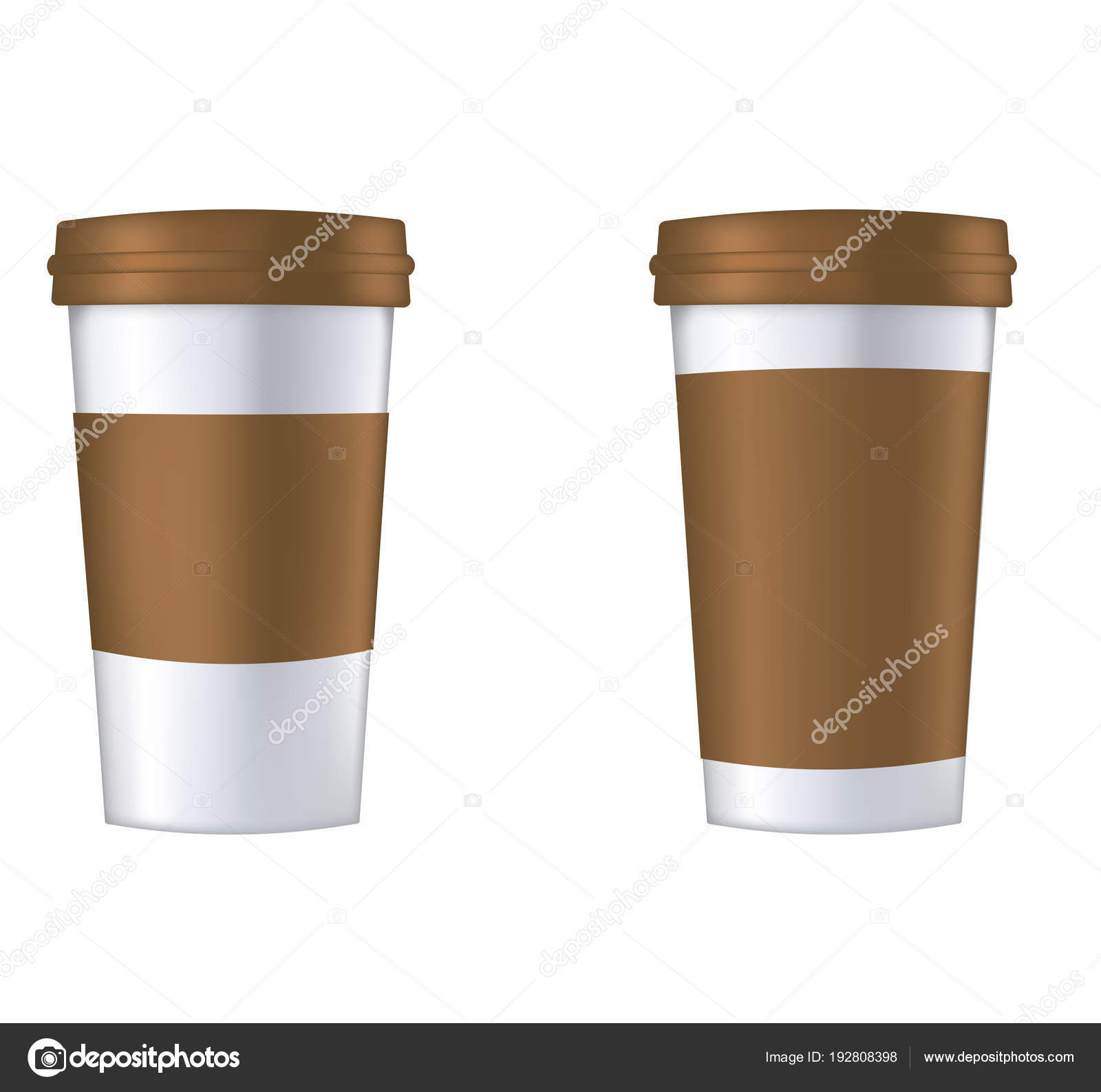 disposable coffee cup template stock vector marijamara 192808398