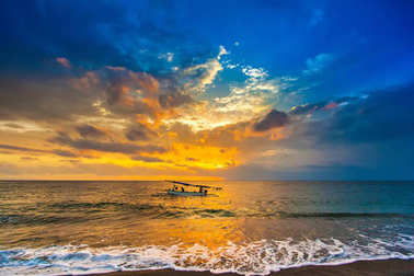 Sunset on the Lombok Indonesia