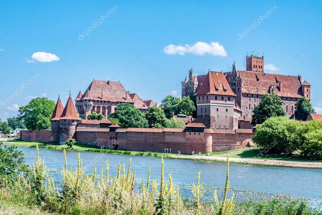 Teutonic Castle in Malbork, Poland