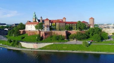 Wawel Castle and Vistula River, Krakow, Poland