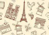 Varratmentes háttérben a vázlatok, a téma a Párizs és Franciaország