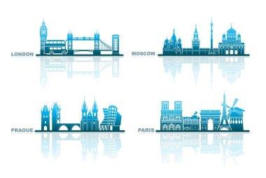 Architectural landmarks of European capitals