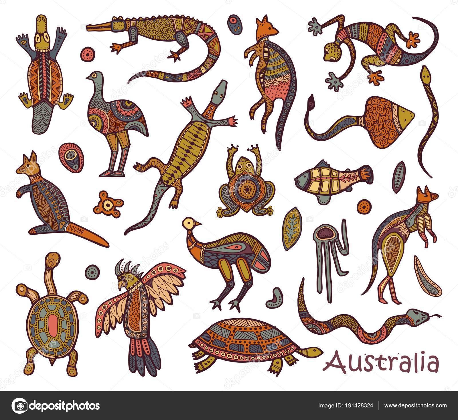 Vector: doo australia | Aborigen australiano estilo de animales ...