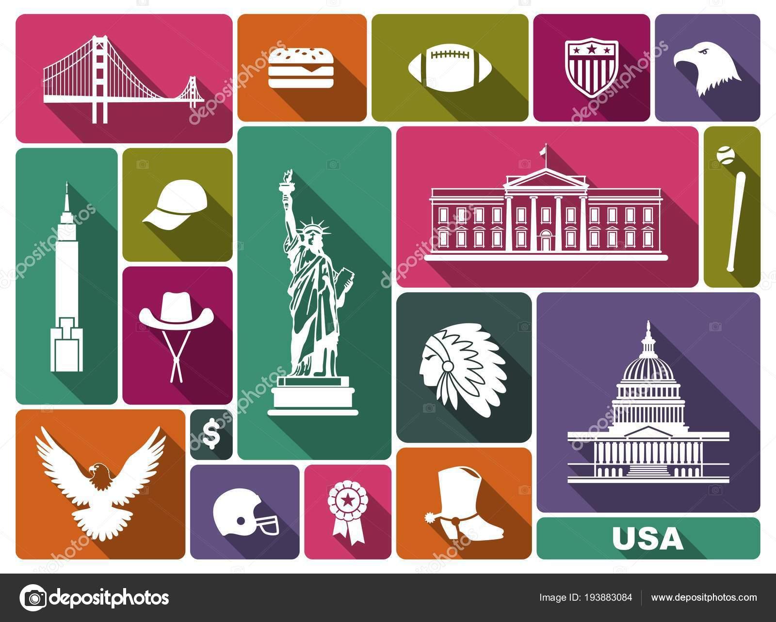 Symbols Of The Usa Stock Vector Klava 193883084